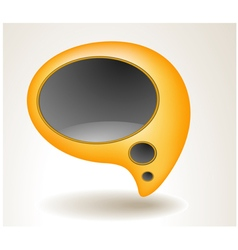 Abstract yellow speech bubble vector