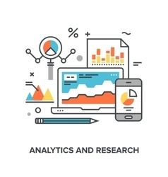 analytics and research vector image