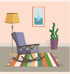 armchair in interior vector image