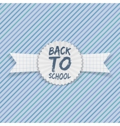 Back to School realistic Label vector image