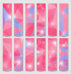Banners template with triangular mosaic background vector