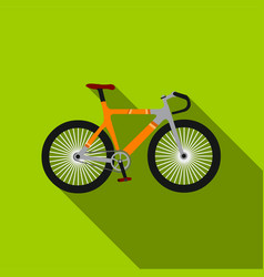 Bicycle icon flate single sport icon from the big vector