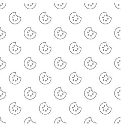Bite biscuits pattern seamless vector