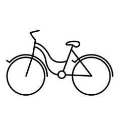 black silhouette with tourist bike icon vector image