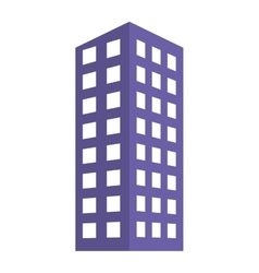 Blue building line sticker image vector image
