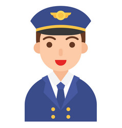 Captain icon profession and job vector