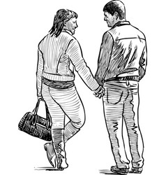 cheerful couple vector image