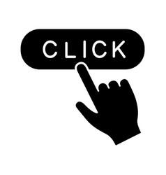 click button glyph icon vector image