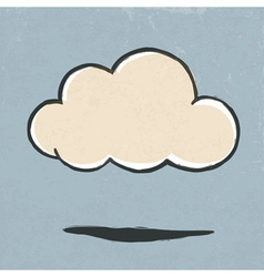 cloud symbol retro vector image