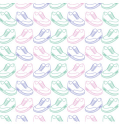 Comfortable sneakers fitness background vector