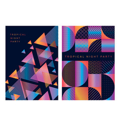 concept geometric pattern for cover vector image