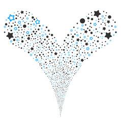 Confetti stars fountain stream vector