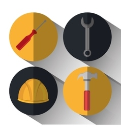construction tools devices icon vector image