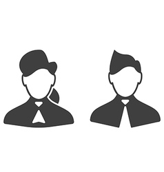 Consultants woman and man icons vector image