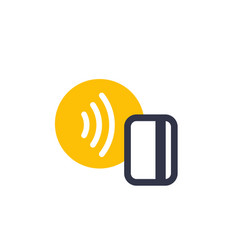 Contactless payment with nfc card icon vector