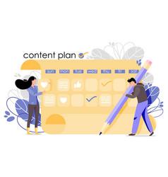 Content plan vector