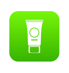 cosmetic cream tube icon digital green vector image