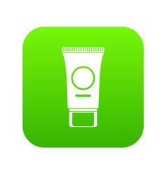 cosmetic cream tube icon digital green vector image
