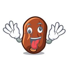 Crazy dates fruit mascot cartoon vector