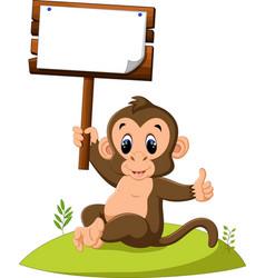 Cute monkey cartoon vector
