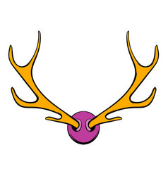 deer head icon icon cartoon vector image
