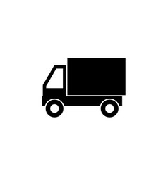 delivery truck vehicle icon signs and symbols can vector image