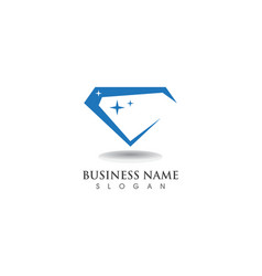 Diamond logo symbol template icon vector