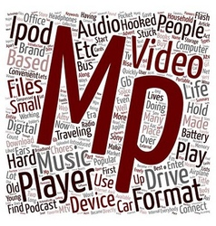Do You Own An Mp3 Mp4 Player text background vector