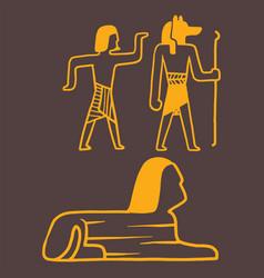egypt travel history sybols hand drawn design vector image