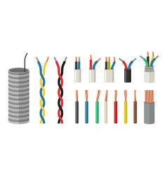 electrical cables vector image