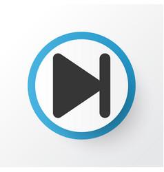 End icon symbol premium quality isolated finish vector
