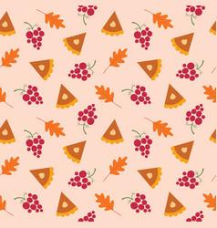 Fall seamless pattern - thanksgiving vector