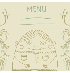 Fanny man menu vector