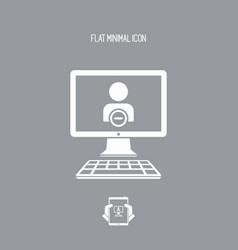 Forbidden access flat icon vector