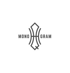 geometric monogram hq vector image