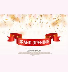 grand opening banner celebration open vector image