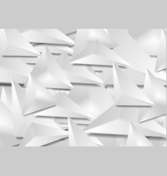 grey 3d smooth triangles geometric polygonal vector image