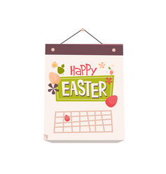 happy easter spring holiday celebration greeting vector image