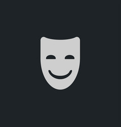 happy mask icon simple vector image
