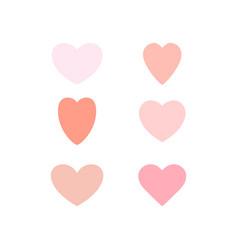 hearts temp beige vector image