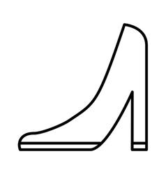 Heel shoe female isolated icon vector