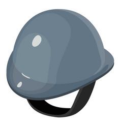 helmet equestrian gray icon isometric 3d style vector image