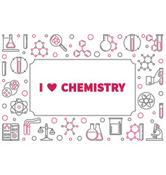 i love chemistry frame with chemical vector image