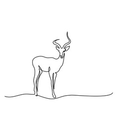 Impala walking symbol vector