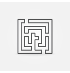 Labyrinth abstract line icon vector