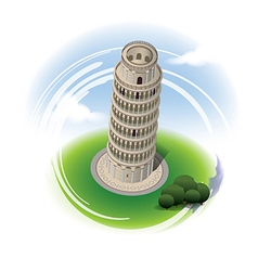 Leaning tower of pisa leaning tower vector