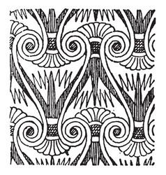 Lotus flower pattern was often combined vector
