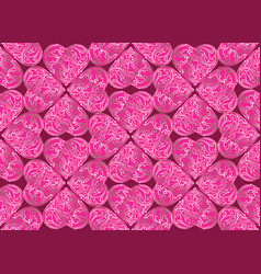 Love heart doodle seamless pattern valentine day vector