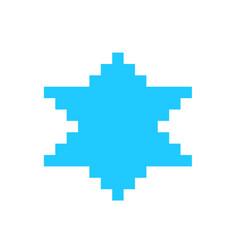 Magen david star israel symbol symbol sign pixel vector