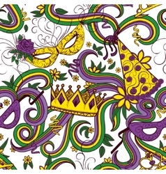 Mardi Gras colorful background vector